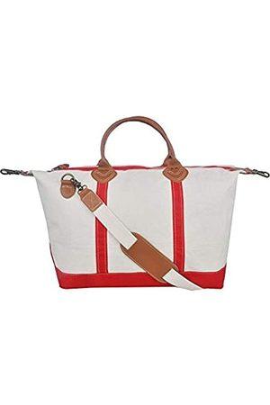 Tag&Crew Signature Duffle Bag, groß, aus schwerem Baumwollleinen, Größe 38,1 x 71,1 x 25,4 cm