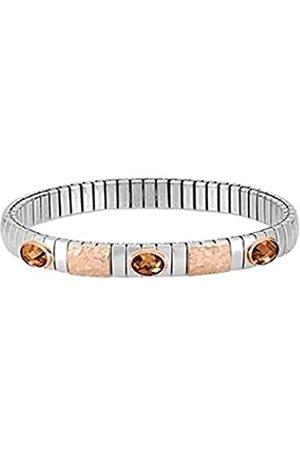 Nomination Damen Armbänder - Damen-Armband Extension Edelstahl Zirkonia braun 18 cm - 044022/012