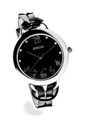 Sinobi Damen-Armbanduhr 1012349 XS Analog Quarz Edelstahl beschichtet 9278/N