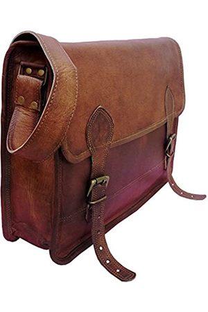 handolederco. Unisex Echtleder Messenger Bag für Laptop Aktentasche Satchel