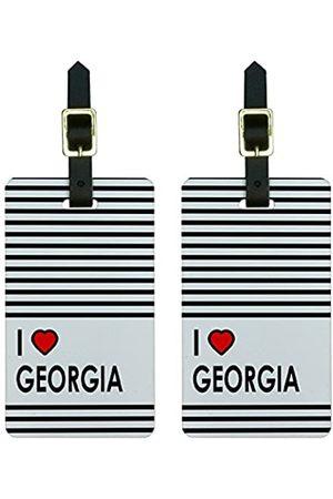 Graphics and More Graphics & More Gepäckanhänger I Love Heart Georgia, für Koffer