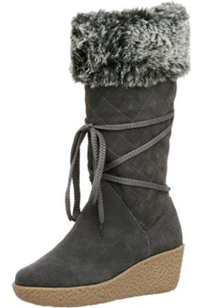 Deer Stags Damen Flirt Wedge Stiefel, Grau (dunkelgrau)