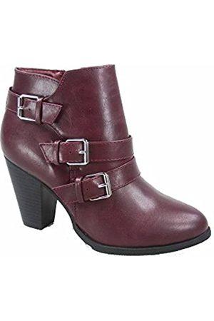 Generic Forever Link Camila-64 Damen Fashion Chunky Heel Schnalle Riemen Ankle Booties Schuhe