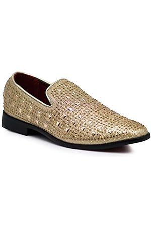 Enzo Romeo SPK11 Herren Vintage Mode Strass Designer Kleid Loafers Slip On Schuhe Klassische Smoking Kleid Schuhe