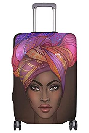 DOENR Luggage Cover African American Woman Elastic Travel Suitcase Protector Fits 18-32 Inch