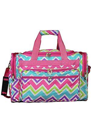 "World Traveler Damen Bowlingtaschen - Unisex-erwachsene 16"" Duffle Bag-Pink Trim Chevron Multi Seesack"