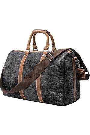 TMOUNT Einzigartige Vintage-Reisetasche, Segeltuch, Leder