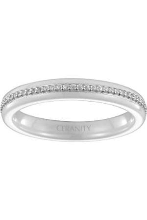 Ceranity Damen Ring, Sterling-Silber 925, Zirkonoxid, 60 (19.1)