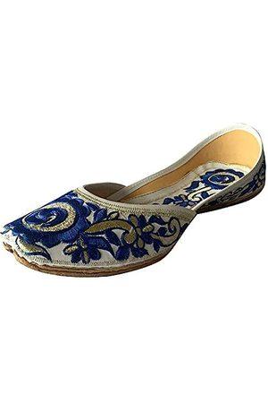 Step N Style Flache Ballerinas für Damen, Punjabi, Jutti, Khussa, Ethnische Phulkari-Schuhe, ( / )