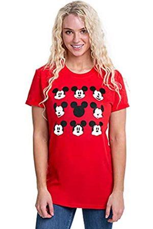 Disney Damen Mickey Mouse Face T-Shirt
