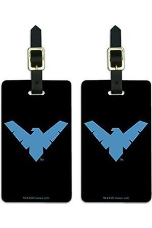 Graphics and More Batman Nightwing Logo Gepäckanhänger Koffer Handgepäck Karten – Set von 2