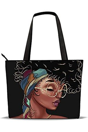 AZPSRT Tragetasche für Frauen, afrikanischer Amerikanischer Schulter-Handtasche, großes Fassungsvermögen, passend für 39,1 cm/45 cm, ( 1)