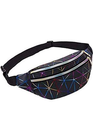 Ho-Lala Holografische Gürteltasche für Damen, Bananenrosa, Gürteltasche, , geometrische Hüfttaschen, Laser-Brusttasche