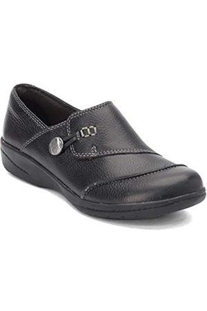 Clarks Cheyn Misha Damen Loafer flach, (schwarzes Leder)