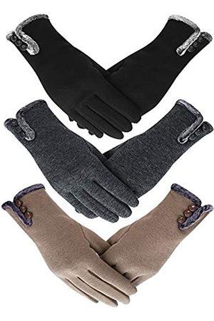 SATINIOR Damen Winter Handschuhe Gefüttert Warme Handschuhe Touchscreen Handschuhe für Kaltes Wetter (Farbe 2