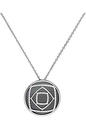 Ceranity Damen-HalskettemitAnhängerSterling-Silber925659gKeramikZirkoniaSchwarzWeiß45cm1-52/0022-N