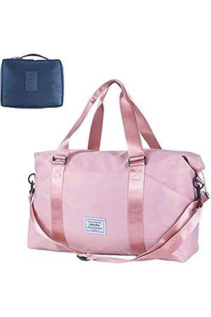 DERLIVA Mehrzweck-Reisetasche, Sporttasche, Reisetasche, Reisetasche, Reisetasche für Damen und Herren, Pink (rose)