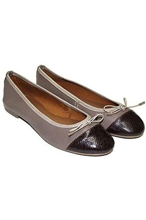 TWISTER Ladies Pumps Made of Leather Ballerina Ballet Flat Stylish & Comfortable … (Brown/Maroon