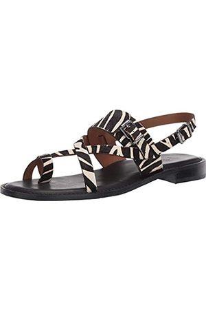 Patricia Nash Fidella Damen-Sandalen mit rundem Zehenbereich, mit Knöchelriemen, (Black Zebra Haircalb)