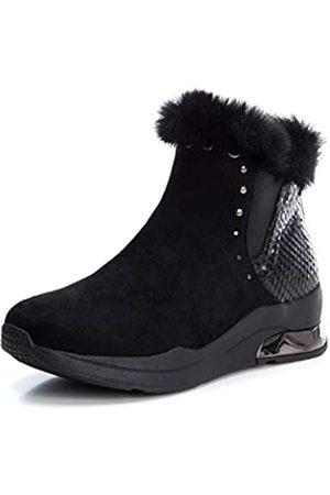 Xti Damen 49353 Kurzschaft Stiefel, (Negro Negro)