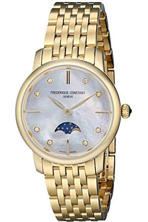 Frederique Constant Damen Analog Quarz Uhr mit Edelstahl Armband FC-206MPWD1S5B
