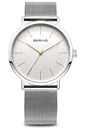 Bering Damen Analog Quarz Classic Collection Armbanduhr mit Edelstahl Armband und Saphirglas 13436-001