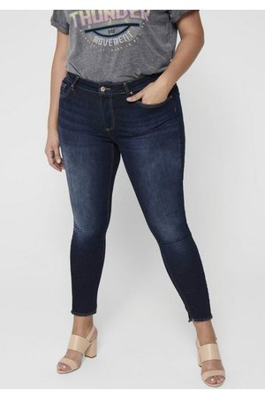 Carmakoma Skinny-fit-Jeans »Willy« in washed-out Optik