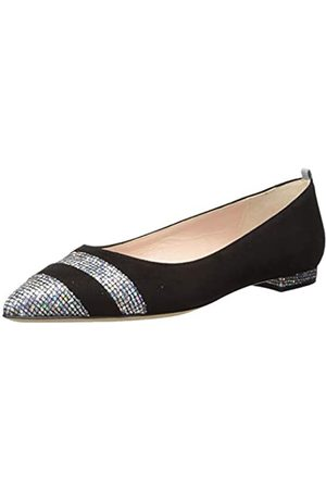 Sjp Damen Ari Pointed Toe Flat Geschlossene Ballerinas, (Black Suede/Scintillate Blksu)