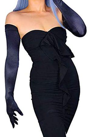 DooWay Super lange Satin-Handschuhe, Sonnenschutz, Stretch, 71,1 cm, für Damen, Opernkleid, Hochzeit