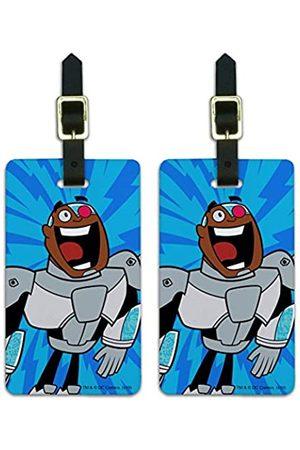 Graphics and More Teen Titans Go! Cyborg Gepäckanhänger für Koffer, Handgepäck