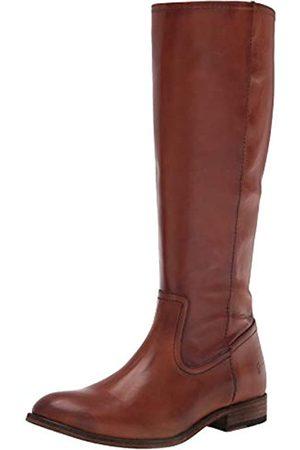 Frye Melissa Damen Stiefel mit Reißverschluss innen hoch kniehoch, (caramel)