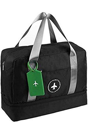ZOUKFOX Wasserdichter Turnbeutel mit Fach für Schuhe, Reisetasche, Trocken- und Nasstrennung, Schwimmtasche, große Kapazität, Boarding-Tasche mit Gepäckanhänger