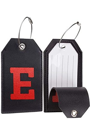 Casmonal Reisetaschen - Gepäckanhänger mit Initiale aus Leder, vollständig biegbar