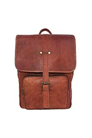 Leather Castle Vintage Leder-Rucksack 13 in Laptop-Tasche Rucksack College-Schul-Schultertasche Reisetasche