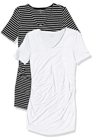 Amazon 2-Pack Short-Sleeve Rouched V-Neck Fashion-Maternity-t-Shirts XL