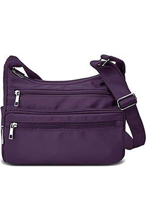 VOLGANIK ROCK Crossbody Bag for Women Waterproof Messenger Shoulder Bag Casual Nylon Purse Handbag Multi Pocket Lightweight Travel Bag