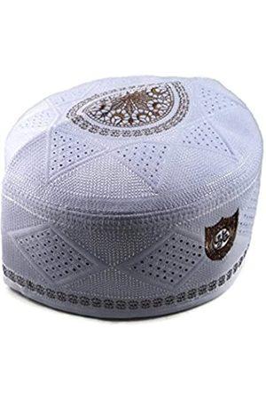 Alwee Alw002 Herren Muslimische Gebetsmütze Kopfbedeckung Totenkopf Kappe Islam Kufi Schwarzß -ß - 58 cm