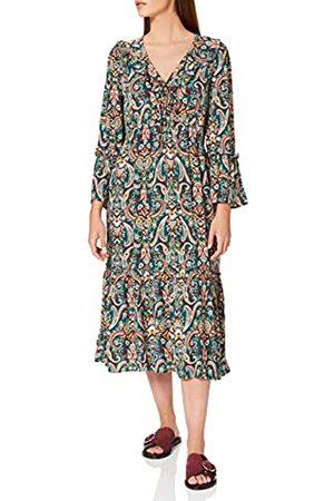 Springfield Damen Vestido Midi Escote Volante Kleid