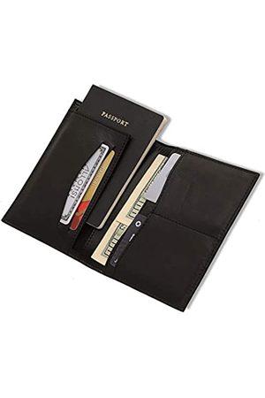 Allonsi RFID Unisex Leder Reisebrieftasche | Leder Reisepasshalter Kartenetui - - Medium