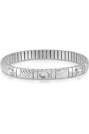 Nomination Damen-Armband Edelstahl Zirkonia weiß 21 cm - 043333/010