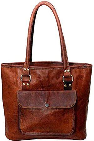 Leather Castle Tote Bag Damen Handtasche Shopping Reise Schultertasche 40