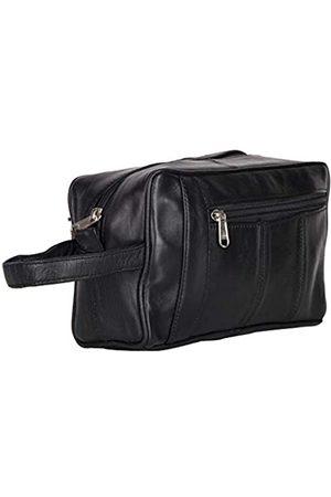 Liberty Leather Echtes Schaf-Nappaleder Unisex Luxus Kulturtasche   Badezimmer-Organizer mit mehreren Fächern für Damen und Herren   Tragbare Kosmetiktasche für Reisen Dopp Kit