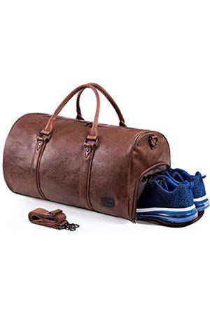 seyfocnia Reisetaschen Herren Leder Wasserdicht Weekender Tasche Großen Kapazität Reisetasche Unisex Vintage Handgepäck Bag.