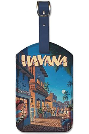 Pacifica Island Art Leatherette Luggage Baggage Tag - Havana by Kerne Erickson
