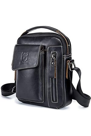 BULLCAPTAIN Herren-Umhängetasche, echtes Leder, lässig, klein, Crossbody-Tasche für Arbeit