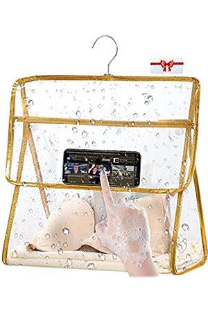 BRIVILAS Transparente Kulturbeutel, groß, wasserdicht, für Badezimmer, Dusche, Wandaufhängung