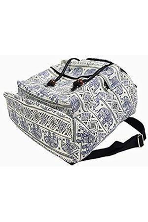 MY HOPE Rucksack, Elefantenmuster mit Kordelzug, Schulter-Rucksack, leicht für Reisen