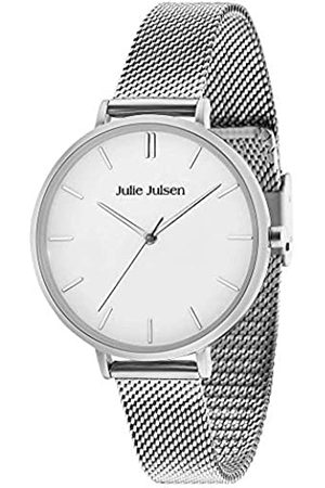 JULIE JULSEN Damen Quarz Armbanduhr - Pure Silver Mesh JJW10SME