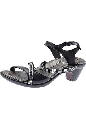 Naot Footwear Women's Innovate Heel Black Madras Lthr/Black w/Clear Rhinestones - 37 M EU / 6-6.5 B (M) US