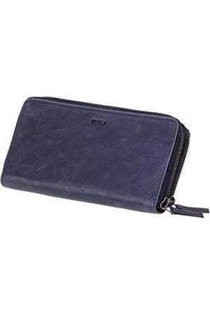 Mika 42173 - Damengeldbörse aus Echt Leder, Portemonnaie im Querformat, Geldbeutel mit 9 Kartenfächer, 2 Scheinfächer und Münzfach mit Reißverschluss, Brieftasche in, ca. 19,5 x 10
